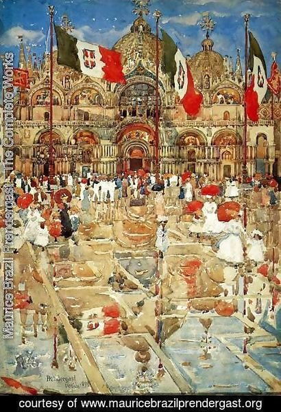 Maurice Brazil Prendergast - Splash of Sunshine and Rain