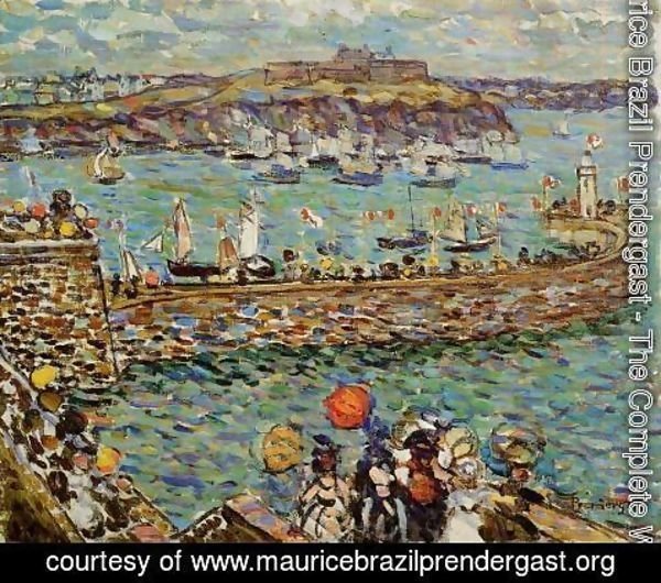Maurice Brazil Prendergast - Lighthouse at St. Malo