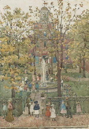 Maurice Brazil Prendergast - West Church, Boston I