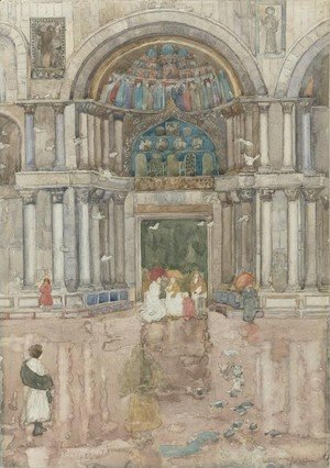 Maurice Brazil Prendergast - Porch with the Old Mosaics, St. Marks, Venice