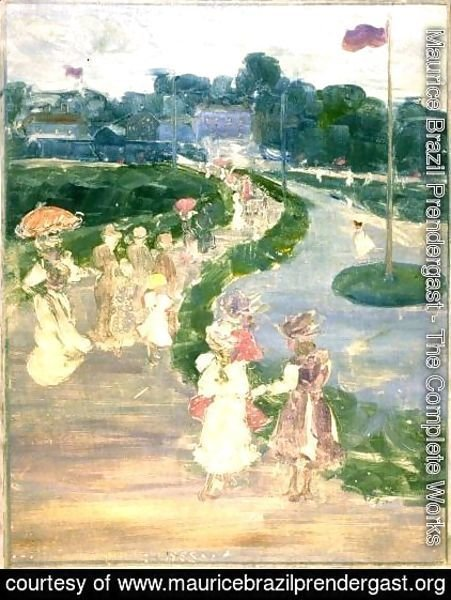 Maurice Brazil Prendergast - After the Review