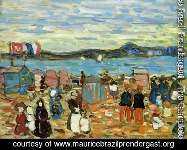 Maurice Brazil Prendergast - Bathing Tents, St. Malo