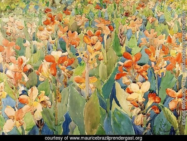 Bed of Flowers (also known as Cannas or The Garden)