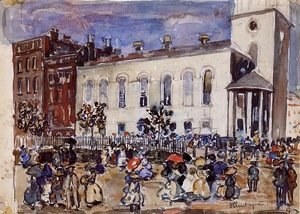 Maurice Brazil Prendergast - Park Street Church, Boston