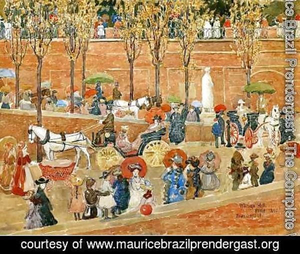 Maurice Brazil Prendergast - Pincian Hill, Rome (also known as Afternoon, Pincian Hill)