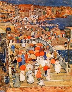 Maurice Brazil Prendergast - Ponte della Paglia (also known as Marble Bridge)