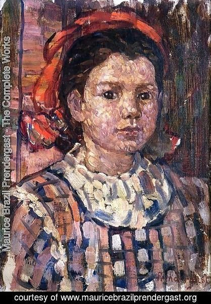 Maurice Brazil Prendergast - Portrait of a Young Girl 2
