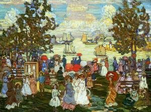 Maurice Brazil Prendergast - Salem Willows (also known as The Promenade, Salem Harbor)