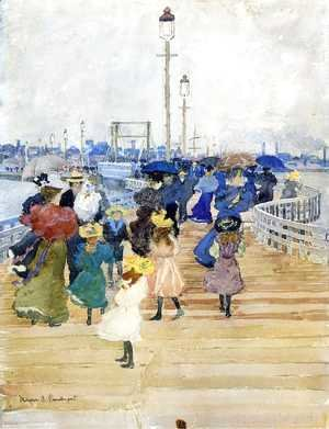 Maurice Brazil Prendergast - South Boston Pier (also known as Atlantic City Pier)
