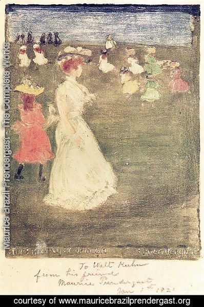 Maurice Brazil Prendergast - The Breezy Common