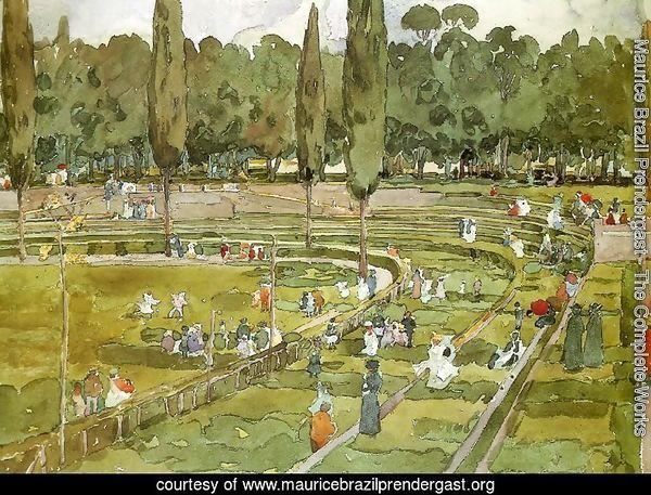 The racecourse (Piazza Siena Gardens Borghese, Rome)