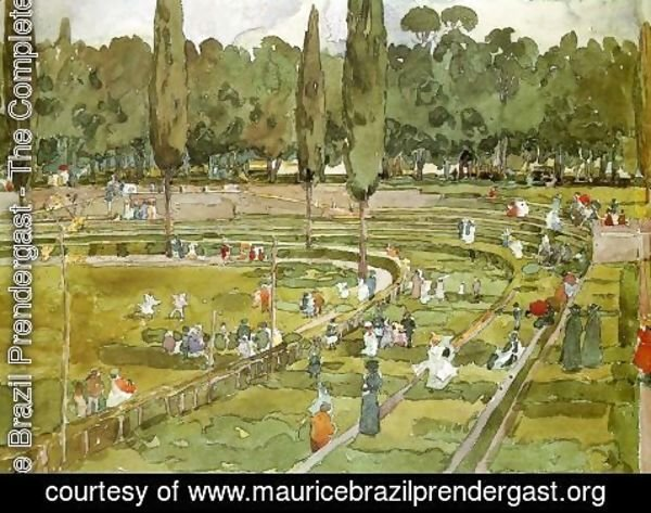 Maurice Brazil Prendergast - The racecourse (Piazza Siena Gardens Borghese, Rome)