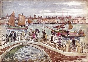 Maurice Brazil Prendergast - View of Venice (also known as Giudecca from The Zattere)