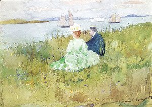 Maurice Brazil Prendergast - Viewing the Ships
