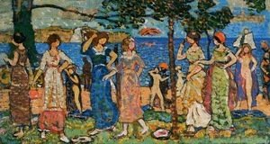 Maurice Brazil Prendergast - Women at the Seashore
