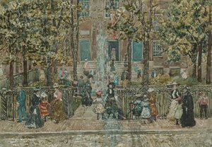 Maurice Brazil Prendergast - Court Yard West End Library Boston