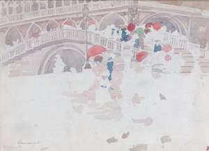 Maurice Brazil Prendergast - Umbrellas in the Rain Venice