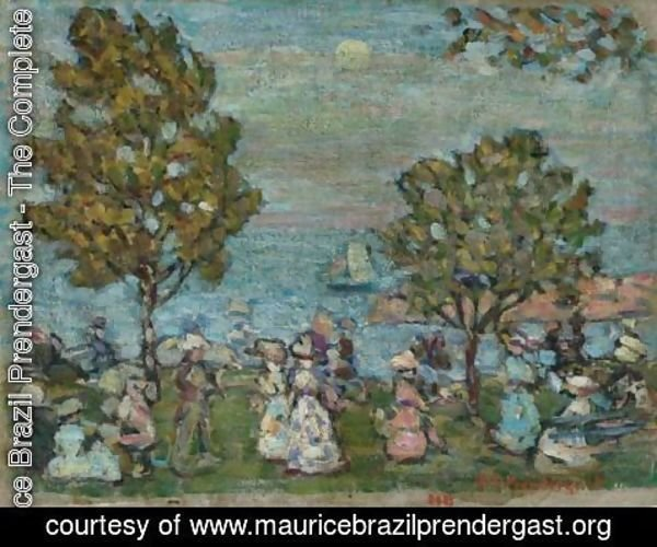 Maurice Brazil Prendergast - Late Afternoon (Moonlight At Marblehead)