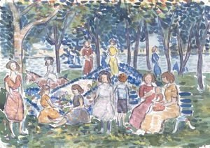 Maurice Brazil Prendergast - Playtime At Salem Park, Massachusetts