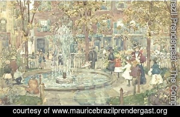 Maurice Brazil Prendergast - The Fountain, Boston