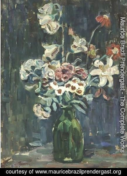 Maurice Brazil Prendergast - Night Study Of Flowers