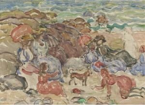 Maurice Brazil Prendergast - Figures In A Cove