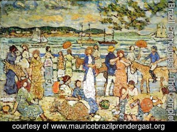 Maurice Brazil Prendergast - Along The Shore