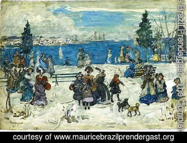 Maurice Brazil Prendergast - April Snow  Salem