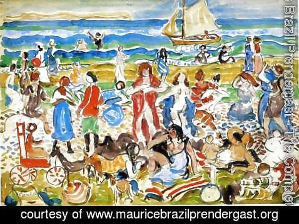 Maurice Brazil Prendergast - Bathers  New England