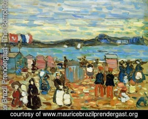 Maurice Brazil Prendergast - Bathing Tents  St  Malo