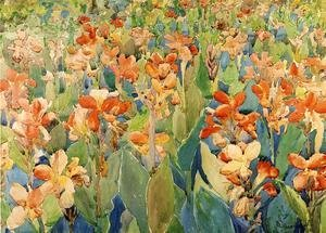 Maurice Brazil Prendergast - Bed Of Flowers Aka Cannas Or The Garden
