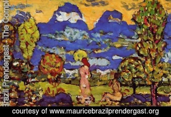 Maurice Brazil Prendergast - Blue Mountains
