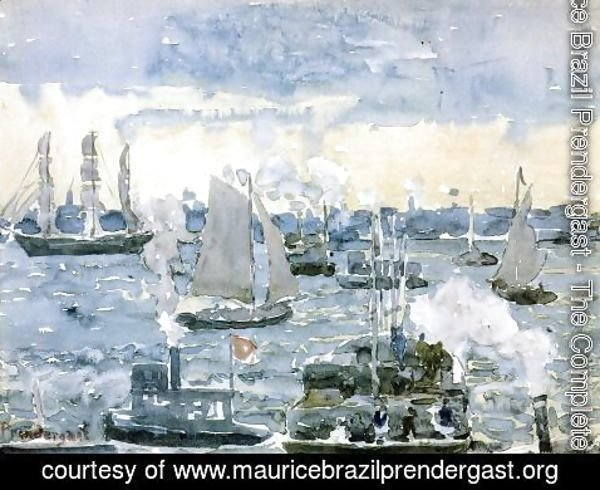 Maurice Brazil Prendergast - Boston Harbor