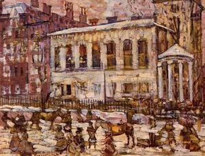 Maurice Brazil Prendergast - Boston  Snowy Day