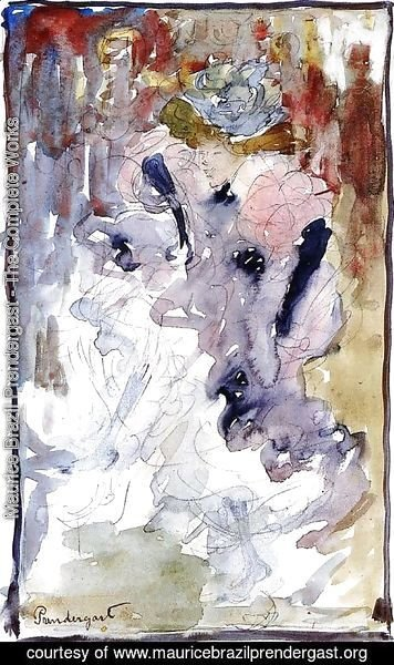 Maurice Brazil Prendergast - Can Can Dancer