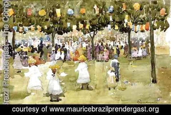 Maurice Brazil Prendergast - Central Park  New York City  July 4th