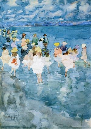 Maurice Brazil Prendergast - Children At The Beach