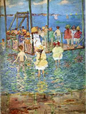 Maurice Brazil Prendergast - Children On A Raft