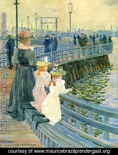 Maurice Brazil Prendergast - City Point Bridge