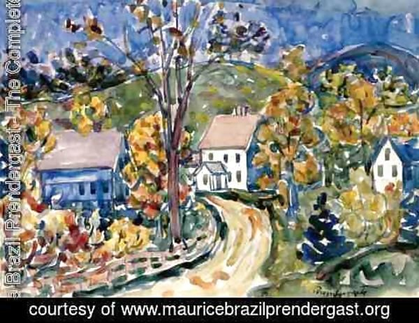 Maurice Brazil Prendergast - Country Road  New Hampshire