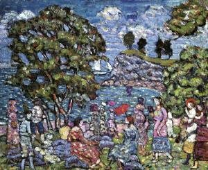 Maurice Brazil Prendergast - Cove With Figures