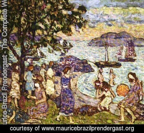 Maurice Brazil Prendergast - Crepuscule Aka Along The Shore Or Beach