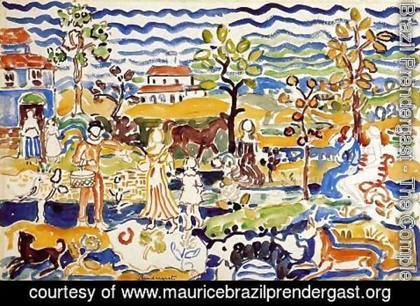 Maurice Brazil Prendergast - Decorative Composition
