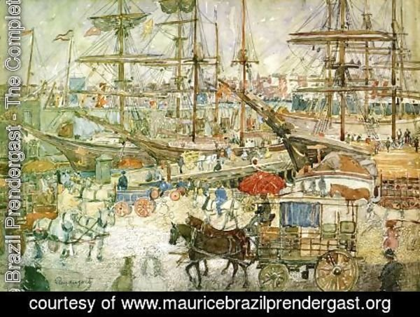 Maurice Brazil Prendergast - Docks  East Boston
