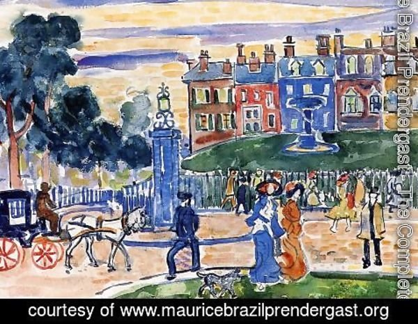Maurice Brazil Prendergast - Edge Of The Park