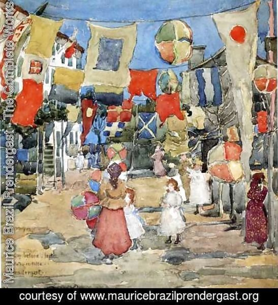 Maurice Brazil Prendergast - Fiesta   Venice   S  Pietro In Volta Aka The Day Before The Fiesta  St  Pietro In Volte