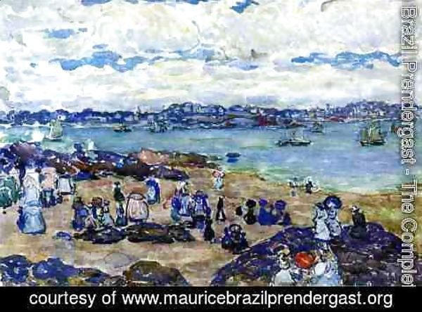 Maurice Brazil Prendergast - Figures On The Beach