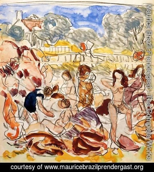 Maurice Brazil Prendergast - Figures On The Beach2