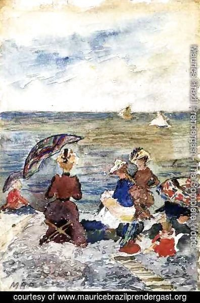 Maurice Brazil Prendergast - Figures On The Beach3