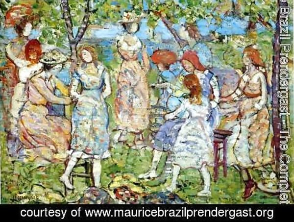 Maurice Brazil Prendergast - Girls In The Park
